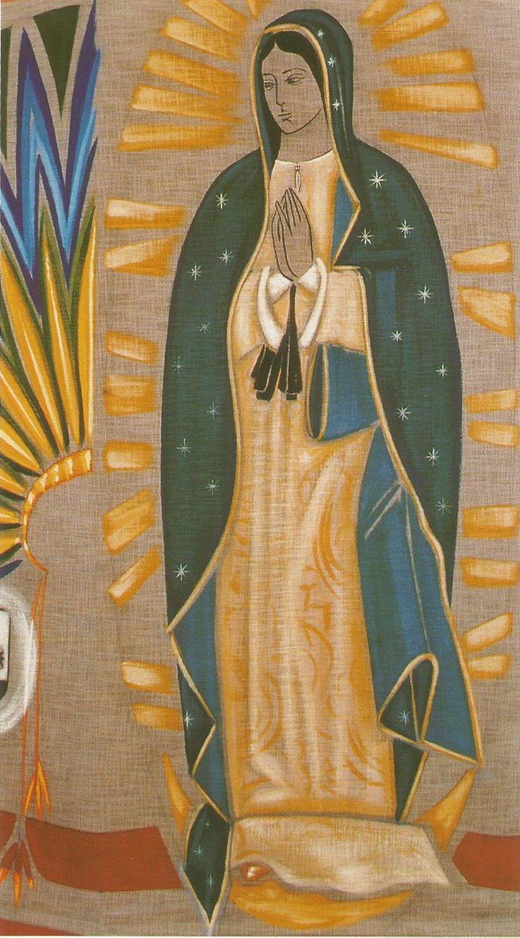 Virgem de Guadalupe feita por Cláudio Pastro na Alemanha - Vânia Oliveira