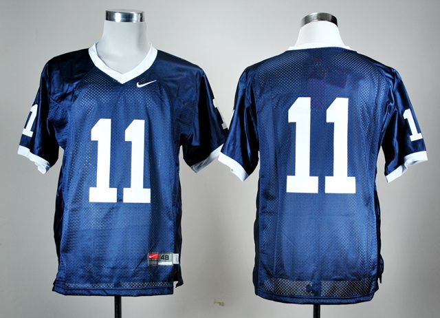 Men's NCAA Penn State Nittany Lions #11 Navy Blue Jersey