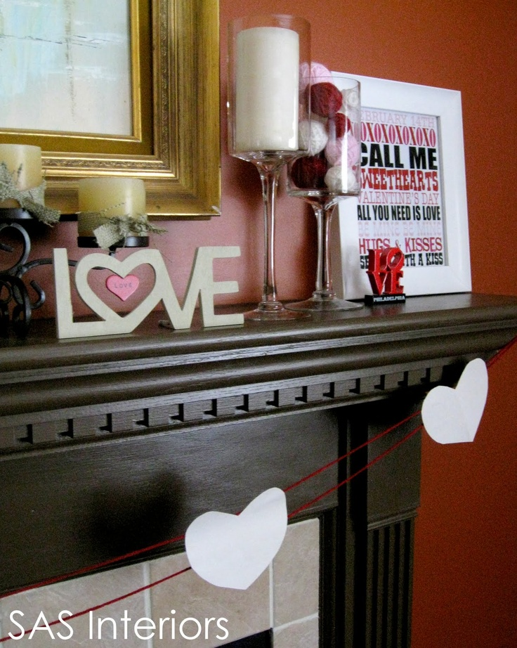 valentines mantel - Decor For Mantels