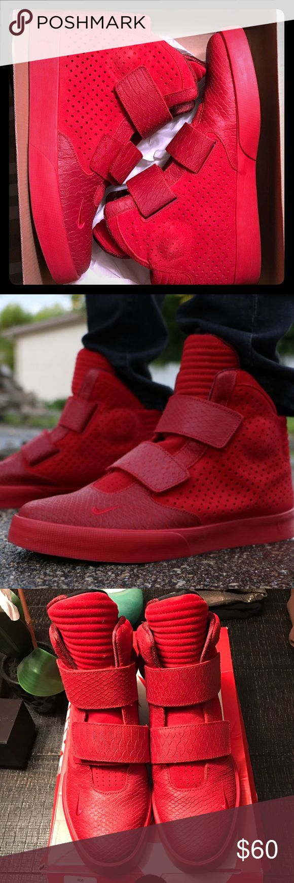 Nike Flystepper 2k3 Red October Size 11 Nike Flystepper 2k3 PRM - Red October  -Size 11 - Gym Red - Suede & Leather -comes from a smoke free home Nike Shoes Sneakers