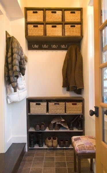 Rethinking our coat closet. The hangers are irritating. What if we just used hooks inside the closet?