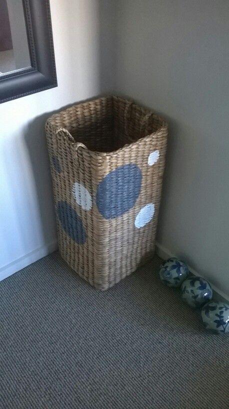 Polka dot laundry basket