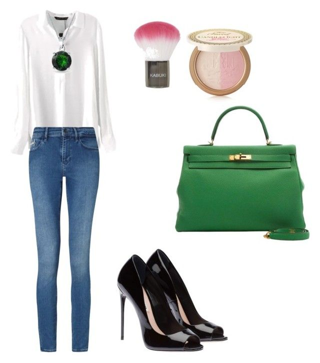Untitled #221 by filomenamaria on Polyvore featuring polyvore fashion style Calvin Klein Bling Jewelry Too Faced Cosmetics Topshop clothing
