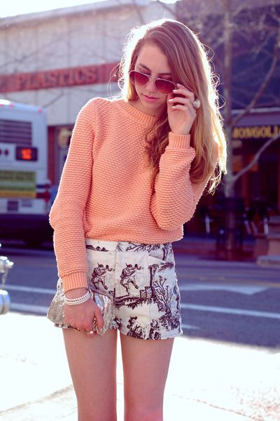 love this!Lulla Fashionista, Fashion 3, Pattern Shorts Baggy, Shorts Baggy Sweaters, Style, Patterned Shorts, Prints Shorts, Summer Night, Fashion Ista