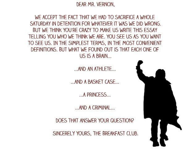 breakfast club ending essay