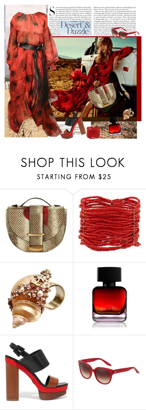 """""""Warmth of the Desert Sun"""" by carola-corana ❤ liked on Polyvore featuring Kershaw, Delphine Delafon, Berry, Chanel, The Collection by Phuong Dang, Michael Kors and Barton Perreira"""