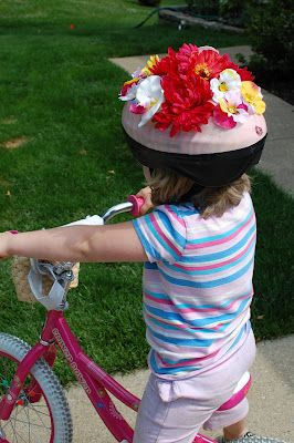 fun and fancy bike helmet.