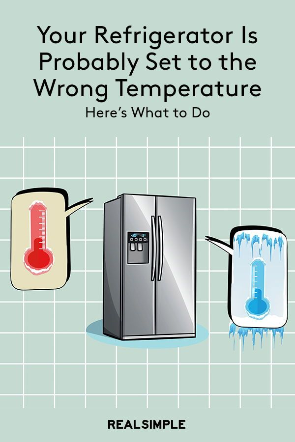The Refrigerator Temperature Your Fridge Is Set To Is Probably