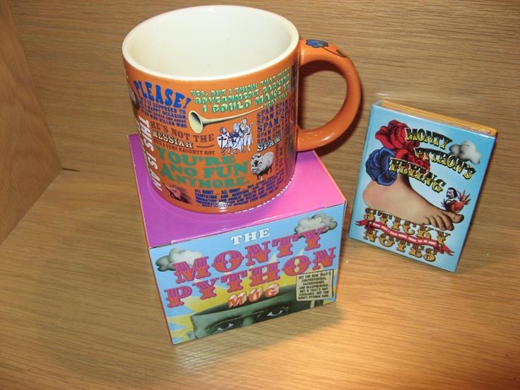 #Monty-Python - mug and sticky notes.  Available at Best of Friends Gift Shop in the lobby of Winnipeg's Millennium Library. 204-947-0110 info@friendswpl.ca