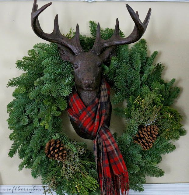 Deer Head in Flannel by Craftberry Bush
