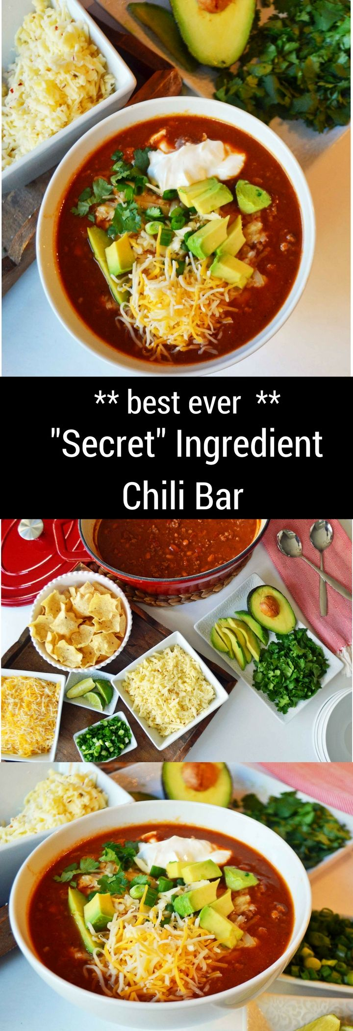 Award Winning Chili Recipe with TWO secret ingredients that make all the difference. It's easy to make and can even be made ahead of time and freezes so well. It's the recipe you need to win your next Chili Cook-Off Contest.