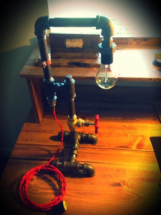Red Pipe Lamp : Best images about handmade diy light fixtures on