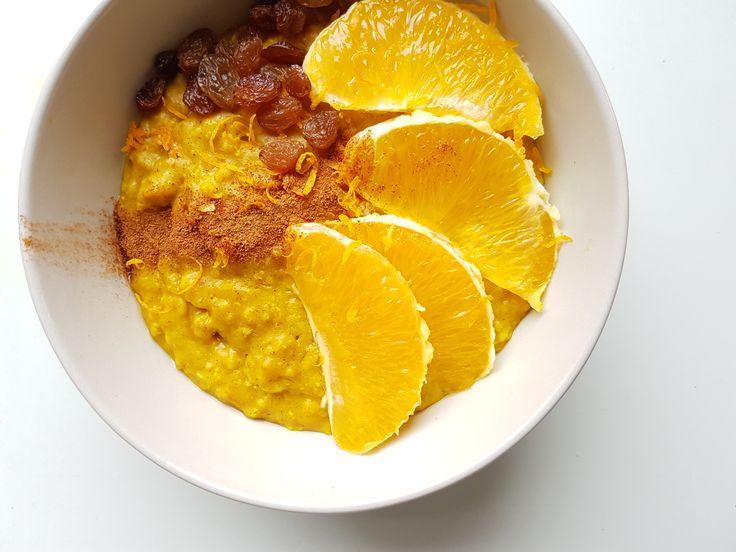 Golden milk havermout met sinaasappel