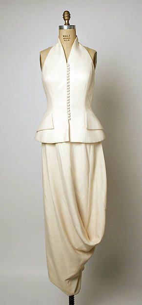 Evening ensemble (waistcoat and skirt   House of Dior (French, founded 1947)   Designer: John Galliano (British, born Gibraltar, 1960)   France, Spring-Summer 1998   Materials: wool and silk   The Metropolitan Museum of Art, New York