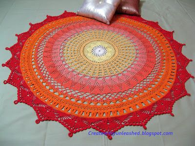 Creat - E - witty Unleashed: My biggest doily ever...Link to free pattern!