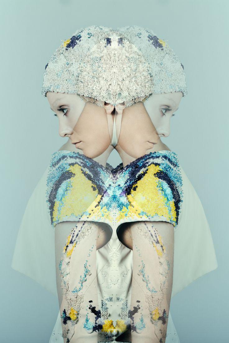IED in Kiev at Ukrainian Fashion Week #interdema #white #WhiteExhibition #contemporaryjewellery #fashion