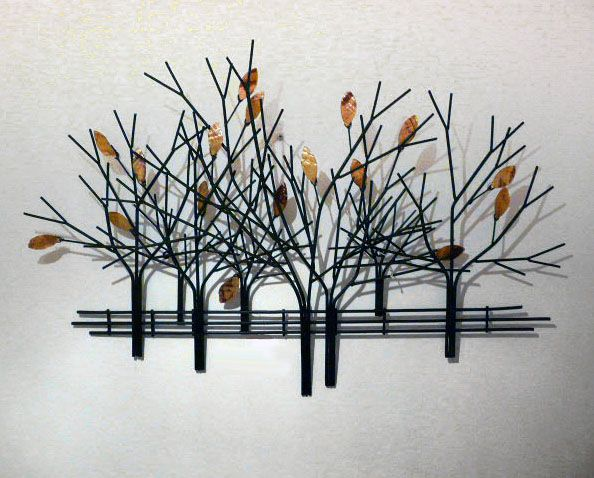 Autumn Tree Scene Metal Wall Art
