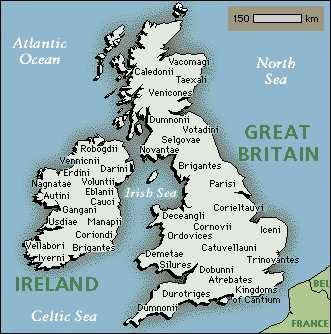 Celtic Tribes in Britain and Ireland  Celtic Britain was dominated by a number of tribes, each with their own well-defined territory. It is thanks to Roman chroniclers, such as Strabo, Julius Caesar, and Diodorus, that the names of individual tribes are known to us today, albeit in Romanized form