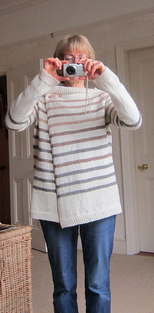 Sailingby's Creamy Caramel - free  Nice to see this often-pinned sweater on a real knitter!