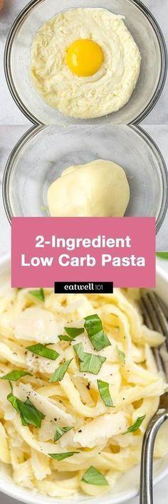 2-Ingredient Keto / Low Carb Pasta Noodles