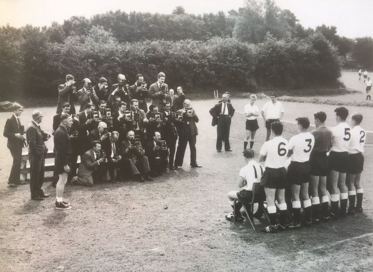 1962/3 pre season photocall at Cheshunt.