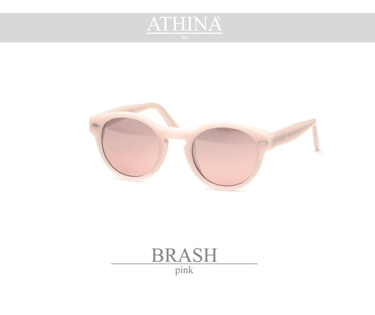 Mod. BRA1111M07 Made with light, ancient pink coloured acetate of cellulose and mirror pink lenses.