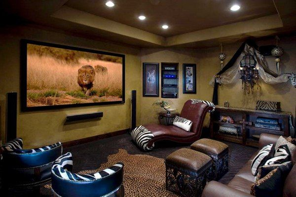 34 best family room theater images on pinterest basement Attic Home Theater Basement Home Theater Man Cave