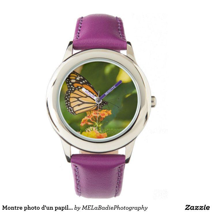 Montre photo d'un papillon