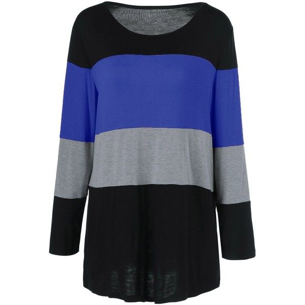 Plus Size Colorful Striped Comfy T Shirt ($13) ❤ liked on Polyvore featuring tops, t-shirts, plus size womens tees, plus size women's t shirts, multi colored t shirts, stripe t shirt and plus size tees