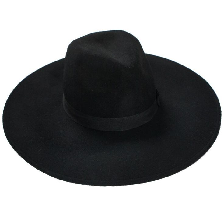 """WITCH BRIM HAT [B]  $60.71 USD  WITCH.  You are very Crafty.  Protect from the sun & complete your lookz with this must-have accessory.   - All black Fedora Hat. - Brim 5""""/13cm, full 44cm diameter. - 100% Wool. - ONE SIZE."""