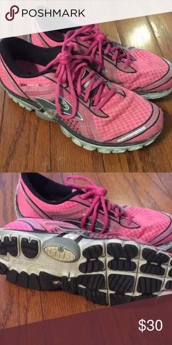 Ladies running shoes Brooks ladies running shoes, GUC, still lots of miles left in them! Brooks Shoes Athletic Shoes