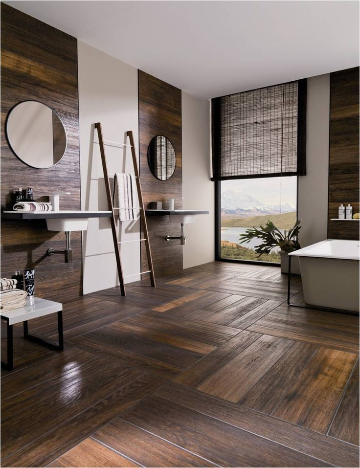 Hampton Brown. Revestimiento porcelanato tipo madera. By Porcelanosa. #tile #ceramica #home