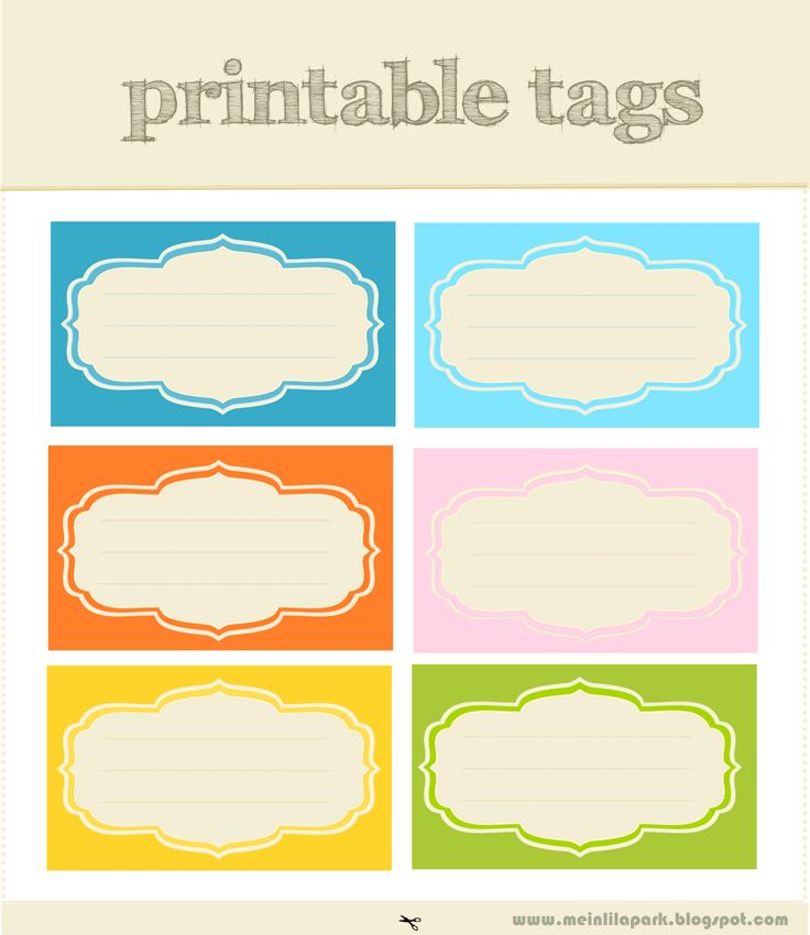 free printable tags and labels. Love rge designs and colors!