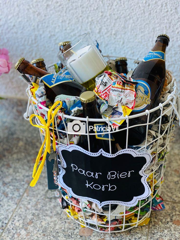 Paar Bier Korb 🍻 🧺 | Geschenk 30 geburtstag frau, Geschenk