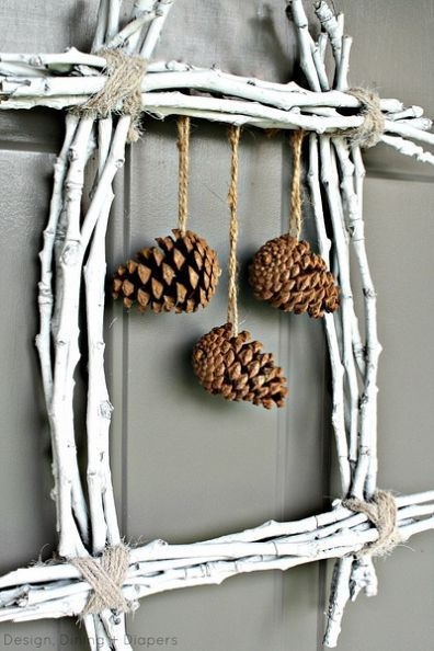 Pinecone Twig Wreath <> (woodsy, woodlands, forest, outdoors, craft, decor)  http://www.hometalk.com/766985/pine-cone-twig-wreath