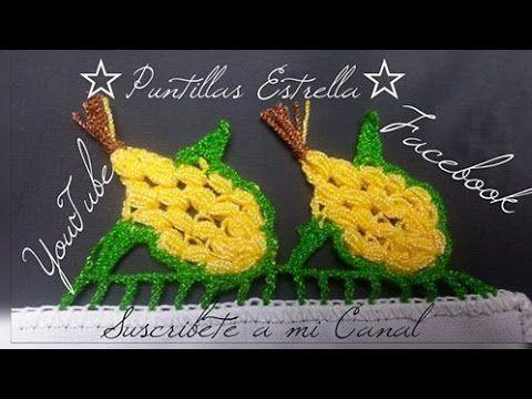 PUNTILLA MEDIO GIRASOL PARTE 1 - YouTube