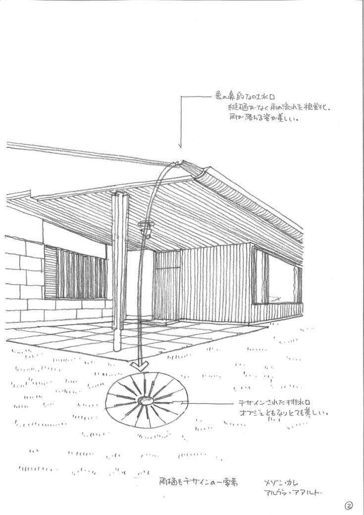 03|「庇の深い雨の処理」。日本建築に見られる雨にまつわる深い庇の事例を見ていきながら、建築家、内藤廣氏の設計による<牧野富太郎記念館>の雨の処理を紐解いていきます。(※建築家、堀啓二さんによる新連載「雨のみち名作探訪」。)