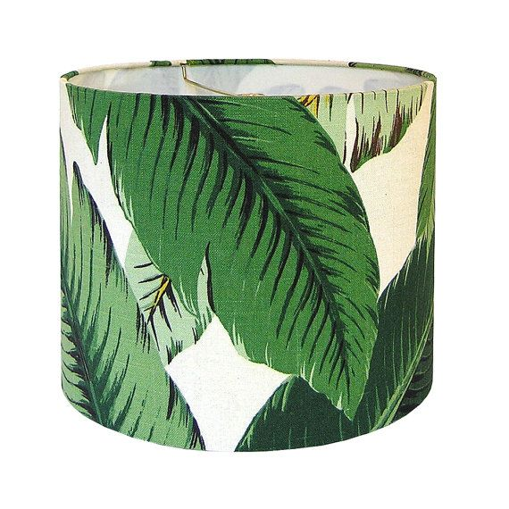Lamp Shade Lampshade Swaying Palms by Tommy Bahama in Aloe Tropical Leafy Green Made to Order