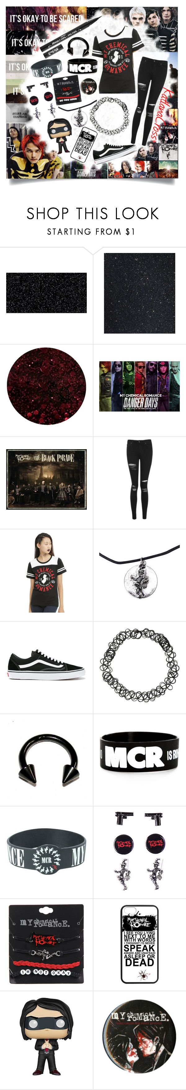 """""""""""We'll Carry On"""""""" by katlanacross ❤ liked on Polyvore featuring Deborah Lippmann, Topshop, Hot Topic, Vans, Kat Von D, Funko and plus size clothing"""