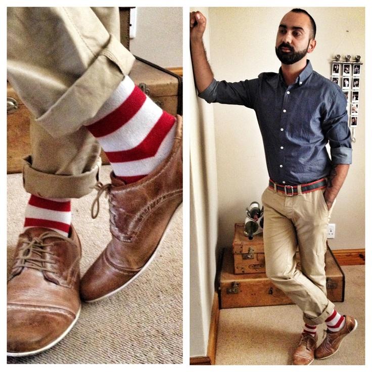 Sailor Stripe Nicsocks and Zara shirt.