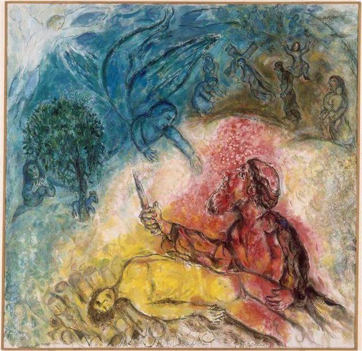 Le sacrifice d'Isaac   Marc Chagall   1960-1966