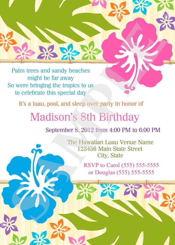 134 best images about luau party on pinterest for Luau party invitation template