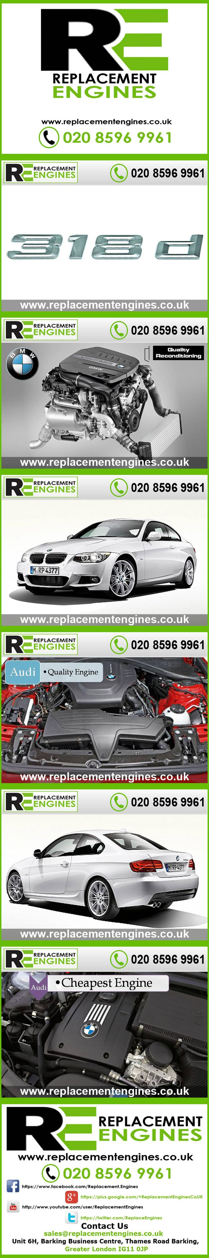 BMW 318d engines for sale at the cheapest prices, we have low mileage used & reconditioned engines in stock now, ready to be delivered to anywhere in the UK or overseas, visit Replacement Engines website here.