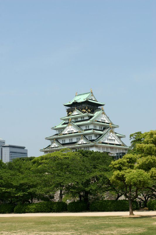 Osaka Castle, Japan 大阪城.  Osaka Castle (大坂城 or 大阪城, Ōsaka-jō) is a Japanese castle in Chūō-ku, Osaka, Japan. The castle is one of Japan's most famous and it played a major role in the unification of Japan during the sixteenth century of the Azuchi-Momoyama period.