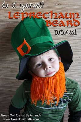 green owl crafts: {Little Leprechaun Beard} St. Patrick's Day Craft