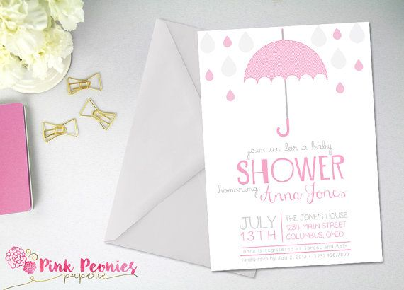 Modern Baby Shower Invitation  Girl Boy Baby by PinkPeoniesPaperie