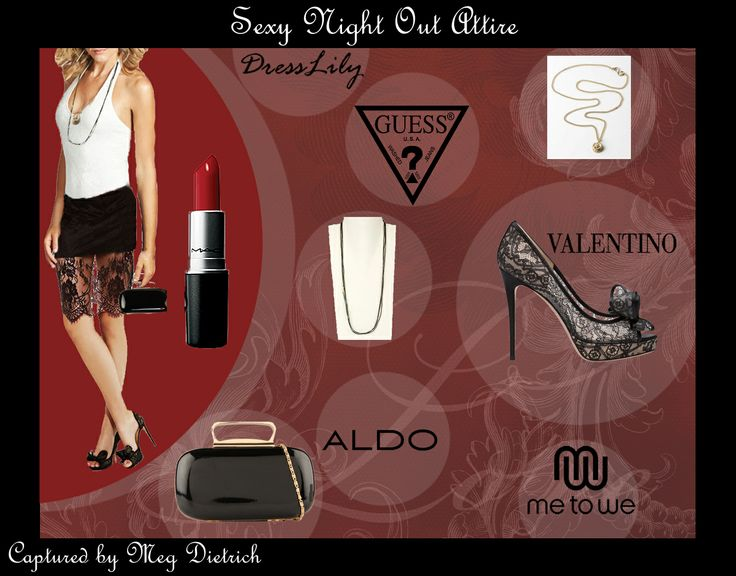 @GUESS @ALDO Shoes @Valentino @Me to We #fashion #outfit #cute #girl #nightwear #lace #black #red #sexy