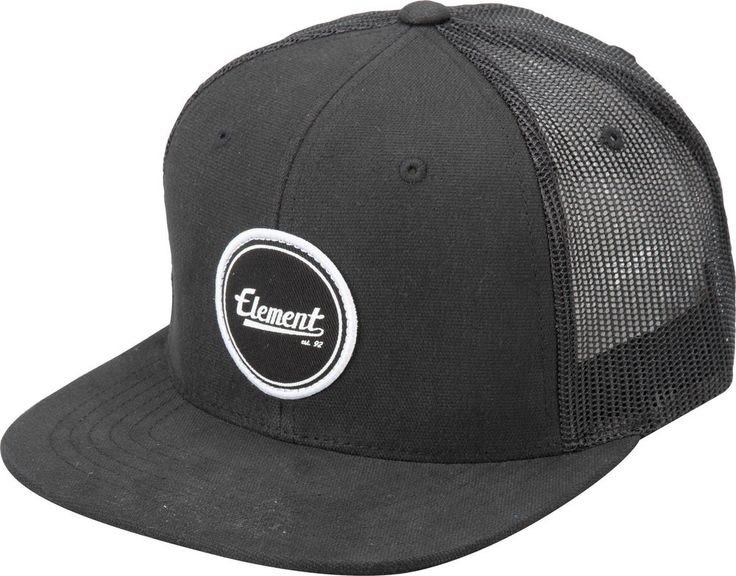 Gorra Cap Mens Element Trucker Impact Flint Black Street Skate Urban 77c953e79d1