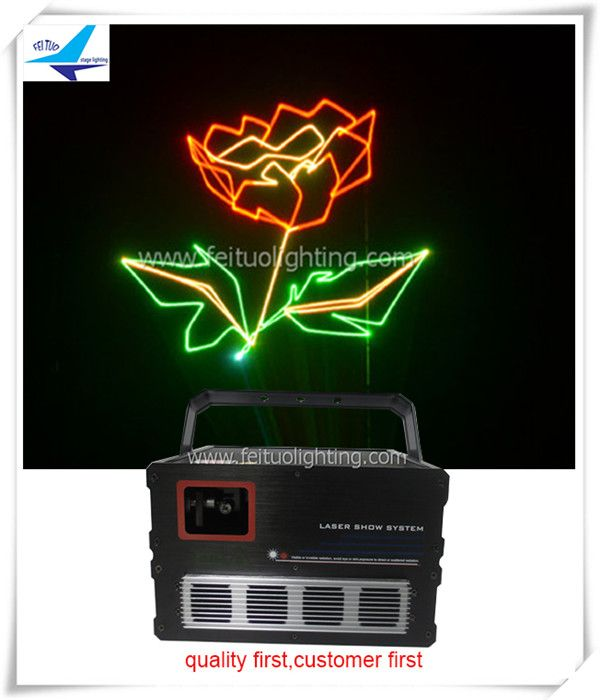 Mini laser christmas lights 1000mw rgb laser with sd card