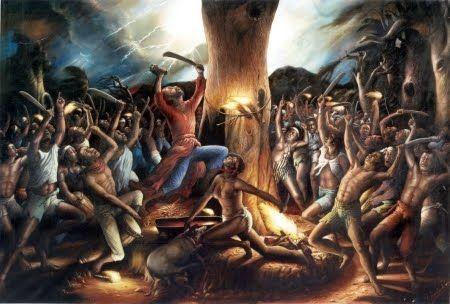 La cérémonie du Bois-Caïman aurait eu lieu le 21 août 1791. Ce soir-là, des esclaves, une prêtresse vaudou et Boukman se seraient réunis pour sceller leur désir de révolution. Cette cérémonie est considérée par les Haïtiens comme l'acte fondateur de l'indépendance d'Haïti. Le mythe de cette cérémonie a encouragé bien des esclaves à se soulever contre l'esclavage et la colonisation française. Le but  est de mettre en place un soulèvement général des esclaves.